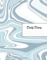 Daily Diary: Blank 2020 Journal Entry Writing Paper for Each Day of the Year | Marble Design Pattern Blue White | January 20 - December 20 | 366 Dated Pages | A Notebook to Reflect, Write, Document & Diarise Your Life, Set Goals & Get Things Done