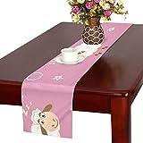 GGSXD テーブルランナー 面白い 羊 クロス 食卓カバー 麻綿製 欧米 おしゃれ 16 Inch X 72 Inch (40cm X 182cm) キッチン ダイニング ホーム デコレーション モダン リビング 洗える