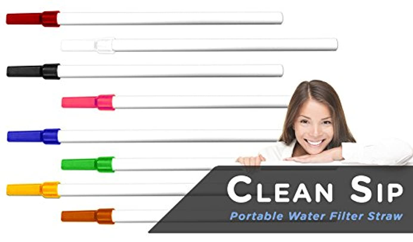 難民怠リスClean Sip Water Filter Straw - The Worlds Smallest Water Filter in a Straw, Colors May Vary by Clean Sip