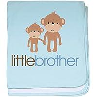 CafePress – Little Brother Monkey – スーパーソフトベビー毛布、新生児おくるみ ブルー 050724831825CD2