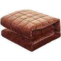 敷きパッド 敷き毛布 丸洗いできる ベッドシーツ ふんわり パイル あったか 毛布地 防ダニ 抗菌防臭 吸汗 ズレ防止ゴムバンド付き ベッドパッド マットレス・パッド ブラウン クイーン・160X200cm