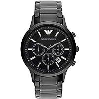 Emporio Armani Black Stainless Steel Chronograph Mens Watch AR2453