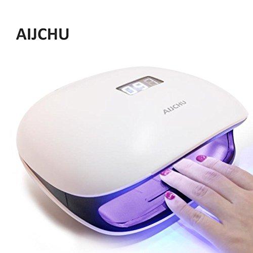 AIJCHU ネイルドライヤー 48 W LED/UV ハイパワー 高速硬化 赤...