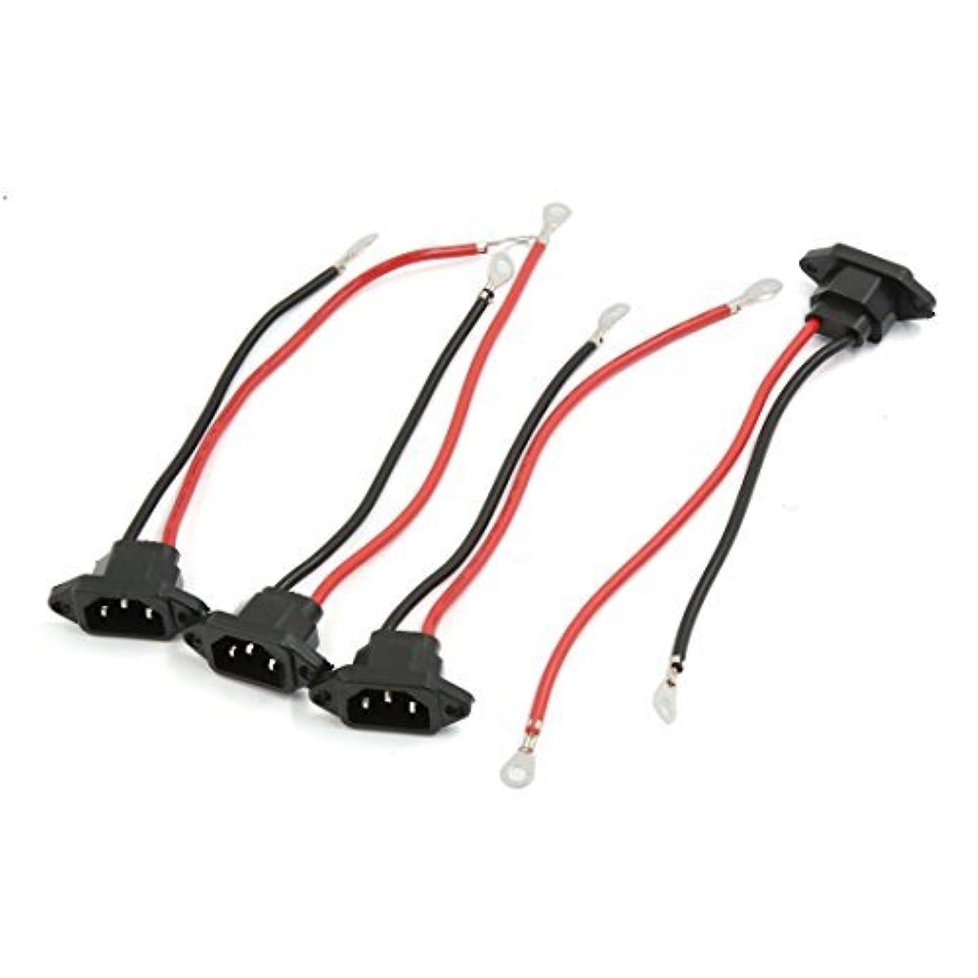 最近入場料スローガンアダプタ4本を充電DealMuxブラックシェル3つのターミナル2本のワイヤT修整電動自転車