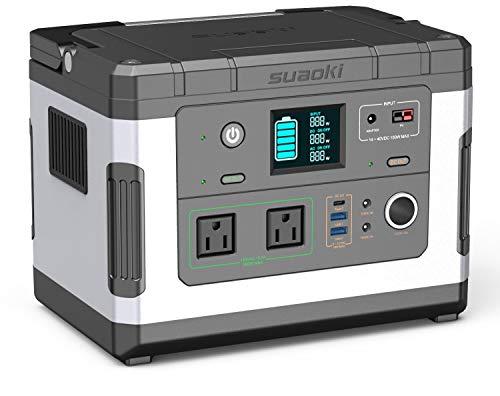 suaoki ポータブル電源 G500 137700mAh/500Wh 家庭用蓄電池 純正弦波 液晶大画面表示 三つの充電方法 ソー...