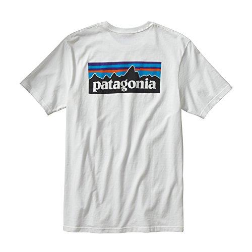 (パタゴニア)patagonia M's P-6 Logo Cotton T-Shirt 38906 WHI White//White M
