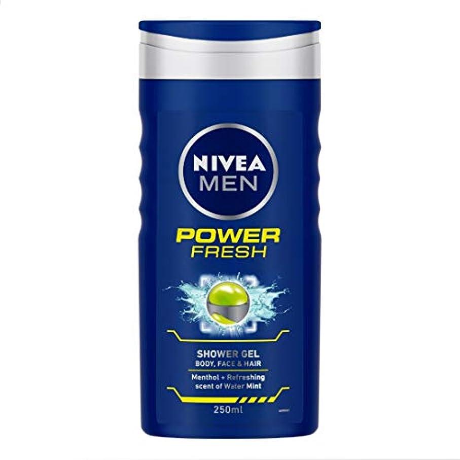 によるとコード家族Nivea Men Shower Gel - Power Refresh (250ml) ニベア男性のシャワージェル - 電源リフレッシュ( 250ミリリットル)