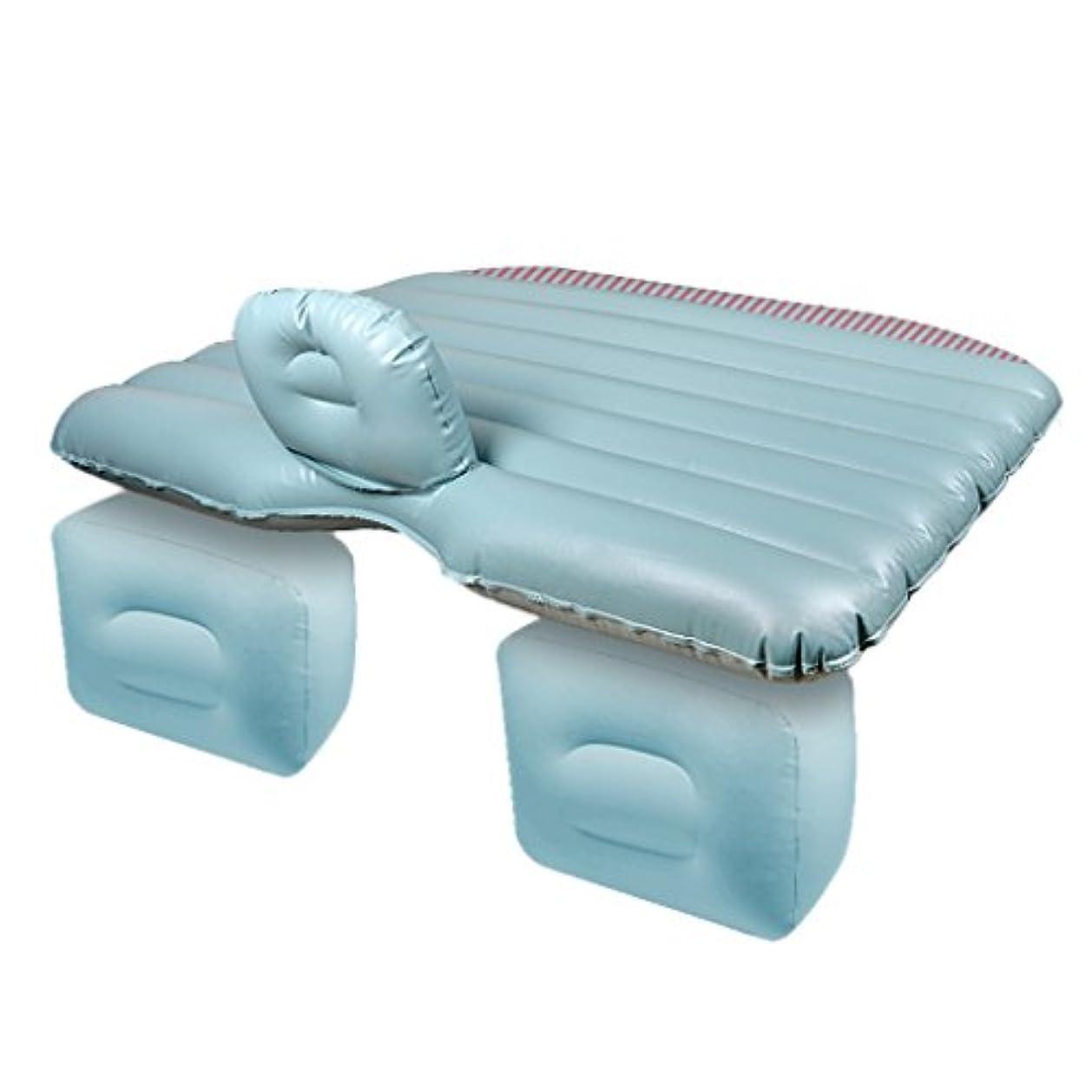 遅い原子広々としたエアベッド - 車の空気ベッド多機能旅行キャンプ旅行睡眠の残りの車の空気ベッドのベッドの車のリアショックアブソーバー旅行のクッションの家の睡眠パッド多機能旅行キャンプの睡眠の残りのSUV折りたたみポータブル // (色 : 青)