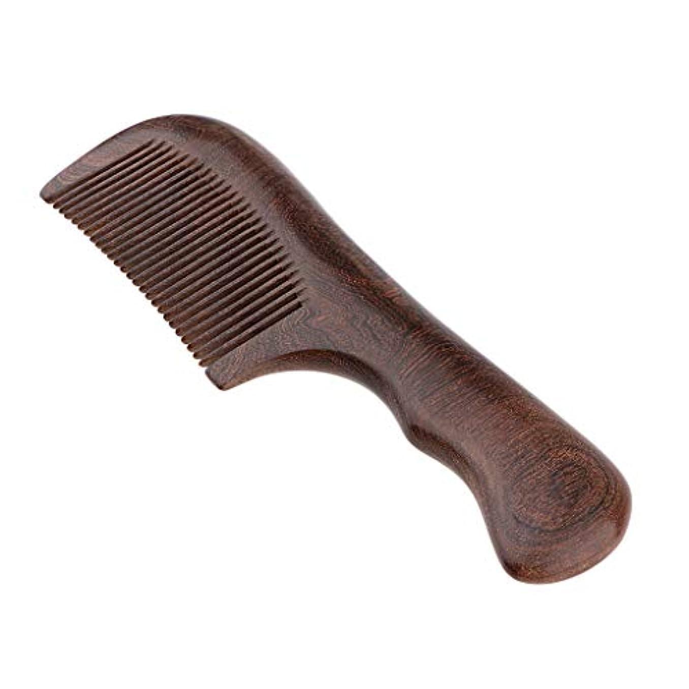 グリルスイング角度F Fityle 木製櫛 ウッドコーム 頭皮マッサージ ヘアブラシ 2仕様選べ - 細かい歯