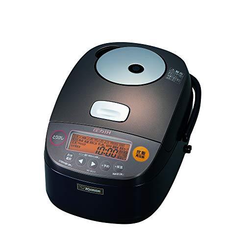 象印 炊飯器 圧力IH式 鉄器コート 5.5合炊き ダークブラウン NP-BG10-TD