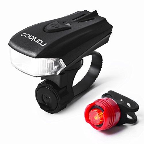 自転車 ライト Raniaco ロードバイク ライトUSB充電式 前照灯 高輝度 自転車ヘッドライト テールライト付き 【改良版】