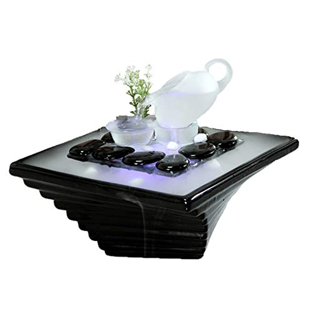 欠伸彼の満足させるエッセンシャルオイルディフューザー空気加湿器セラミッククラフトクリエイティブホームデスクトップ装飾アロマセラピー絶妙なギフト,Black