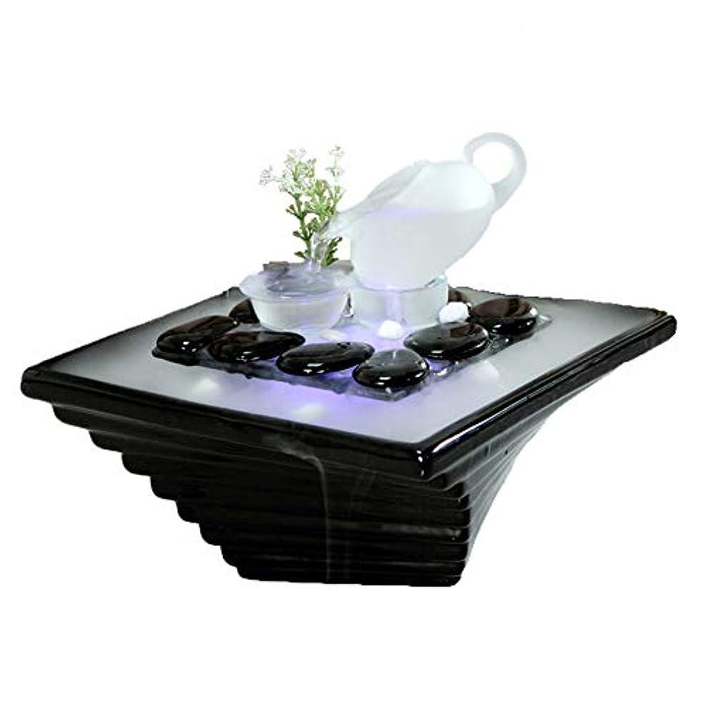 信頼性のある製油所外科医エッセンシャルオイルディフューザー空気加湿器セラミッククラフトクリエイティブホームデスクトップ装飾アロマセラピー絶妙なギフト,Black