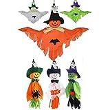 [リトルスワロー] ハロウィン かわいい かかし 魔女 ゴースト スパイクパンプキン 吊下げ 人形 オーナメント ハローウィン 店舗 パーティー オブジェ 6個セット