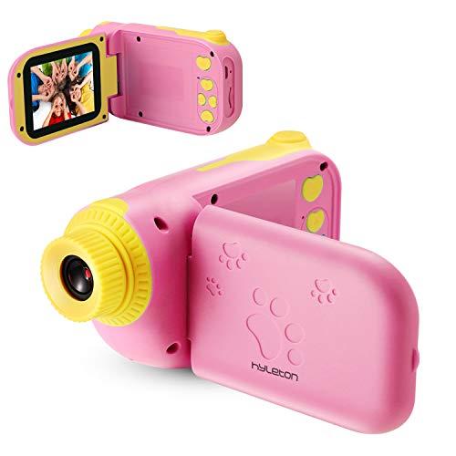 hyleton 子供用 ビデオカメラ 親子おもちゃん ゲーム キッズトイカメラ写真連続撮影とビデオ録画両用 ポータブル子供ビデオカメラ DV撮影 トイ-キッズカメラ  800万画素 4倍ズーム 1080P デジタルカメラ HDデジタルビデオカメラ カムコーダー 子供カメラ 多機能 タイマー撮影 ミニカメラ USB充電日本語説明書付き子供の日 誕生日 知育 教育 男女兼用 (ピンク)
