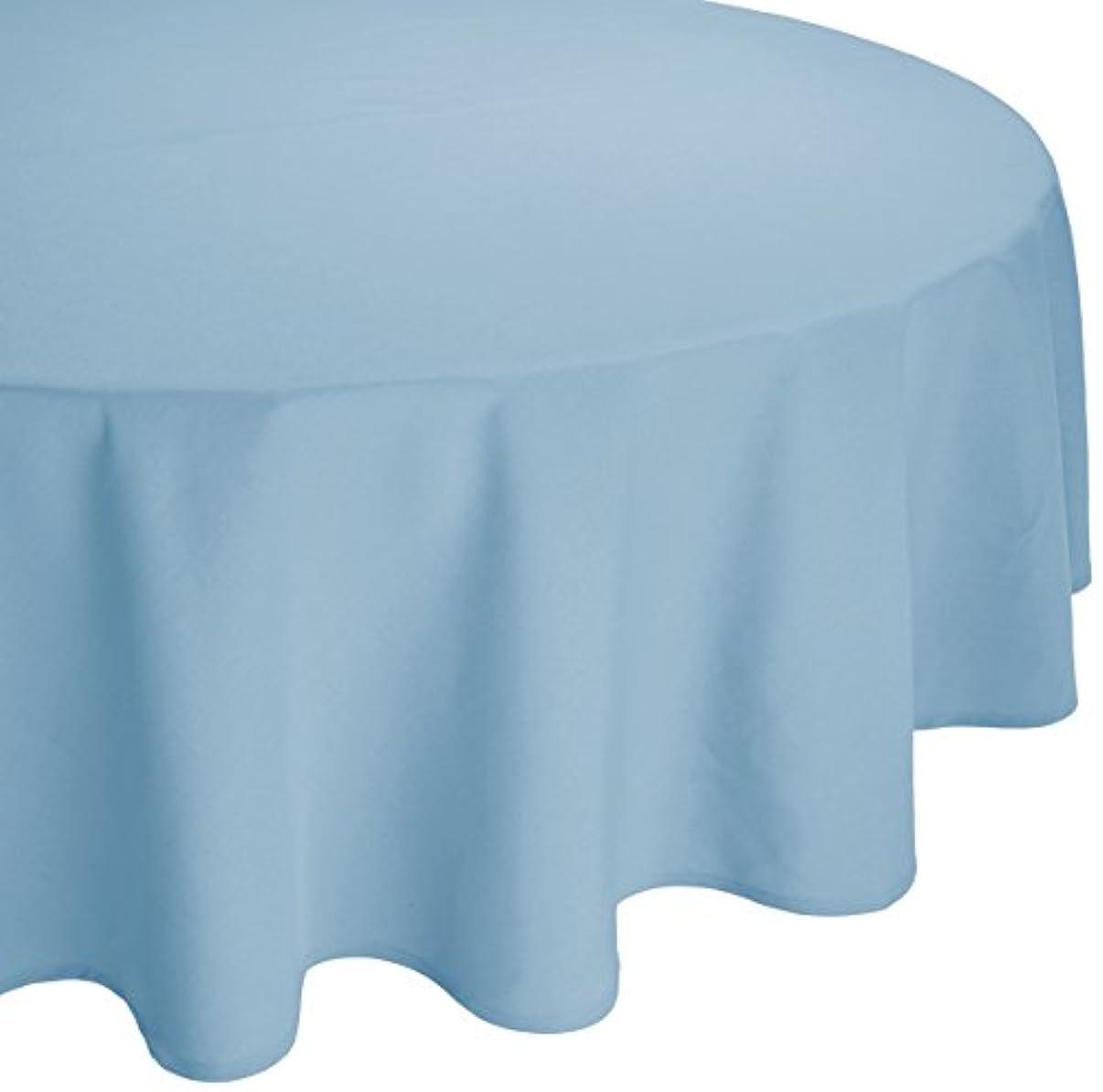 晩餐保安リーズMAJEST(マジェスト) 円形テーブルクロス 直径180cm 布地 スカイ?ブルー 無地 繋なし 吸水タイプ