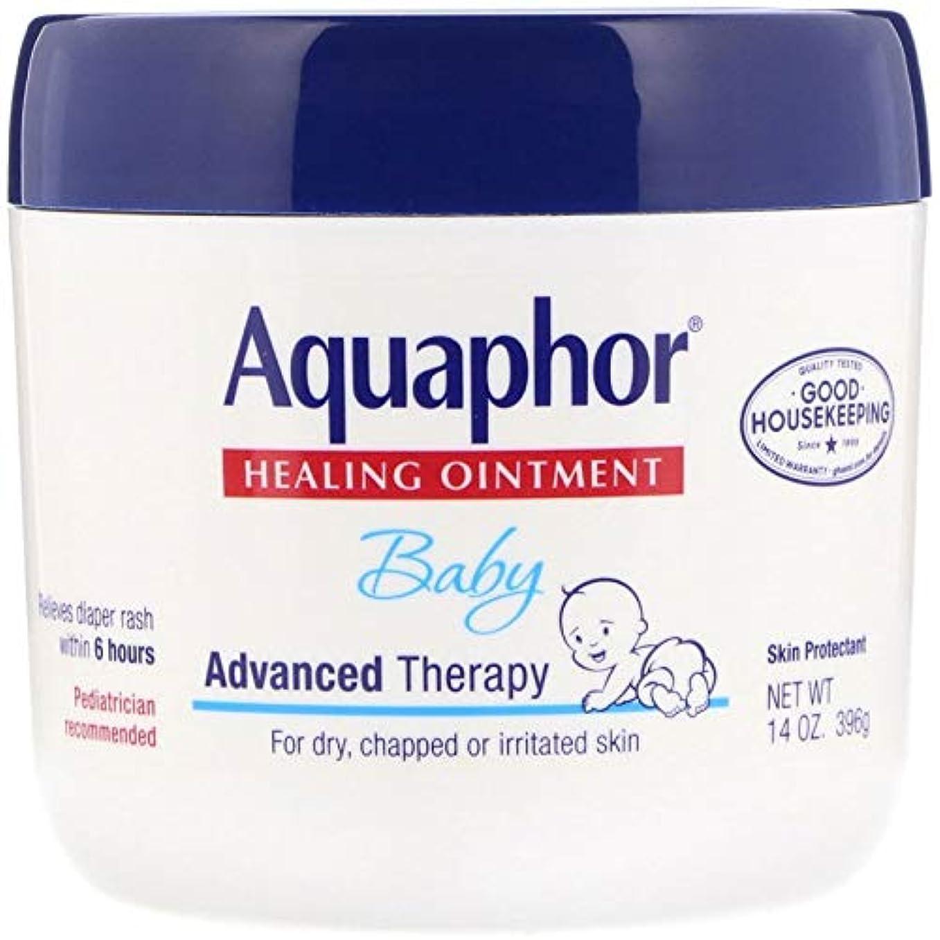 謙虚な鋸歯状問題Aquaphor Baby Healing Ointment Advanced Therapy Skin Protectant 14オンス(396 g)X 3パック