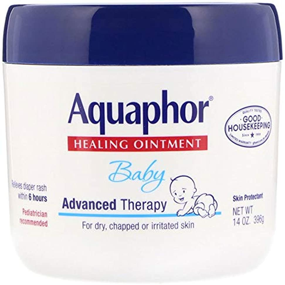 エゴイズム行き当たりばったり寝るAquaphor Baby Healing Ointment Advanced Therapy Skin Protectant 14オンス(396 g)X 3パック