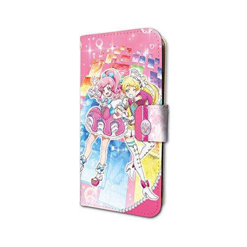 キラッとプリ☆チャン 01 桃山みらい&萌黄えも 手帳型スマホケース iPhone6/6S/7/8兼用