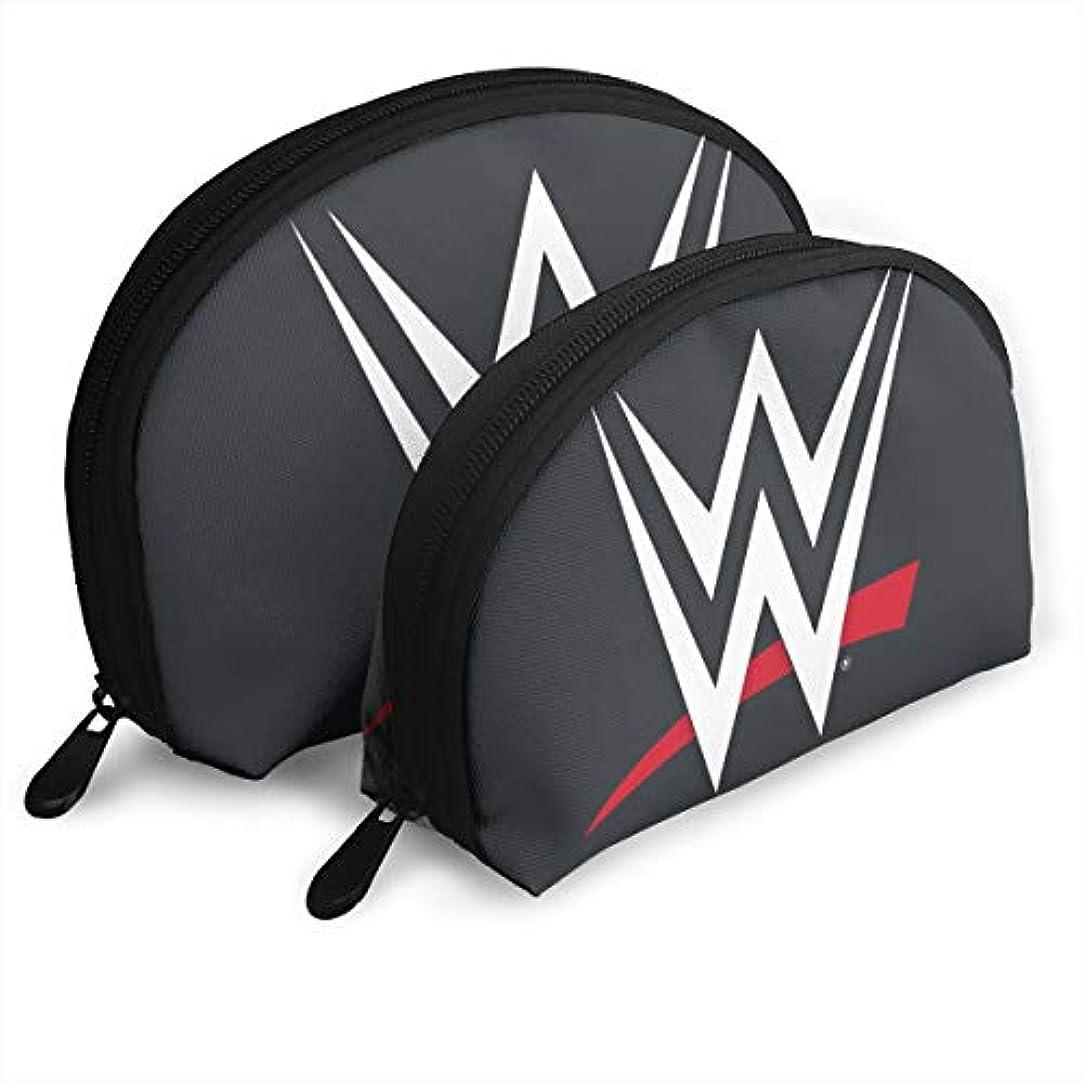 孤児強要病んでいる収納袋 コスメ袋 貝殻型 親子ポーチ 化粧品入れ WWE ロゴ 品質保証 軽い 大容量 普段使い 旅行 温泉 機能的 贈り物