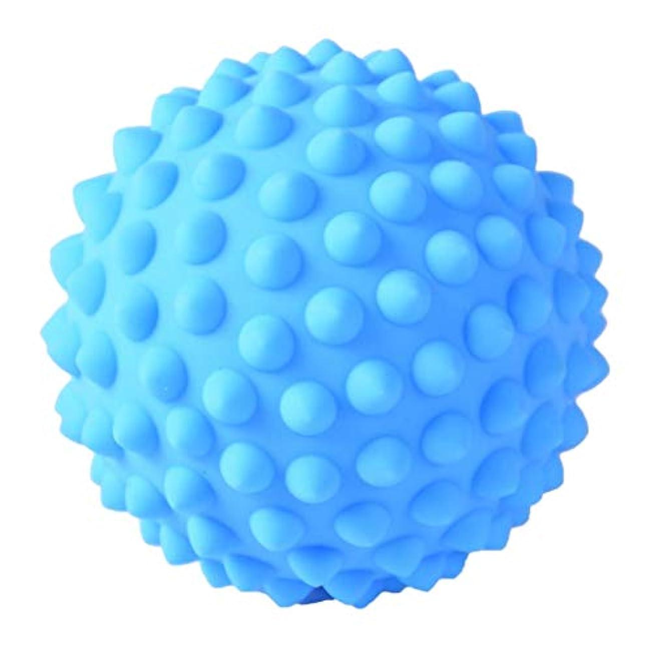 道徳教育口頭取り囲むマッサージボール PVC製 約9 cm 3色選べ - 青, 説明のとおり