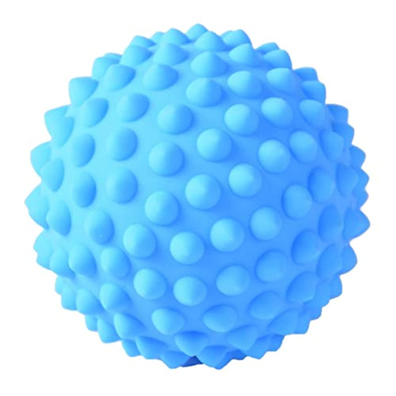 印刷する封建作りマッサージボール PVC製 約9 cm 3色選べ - 青, 説明のとおり
