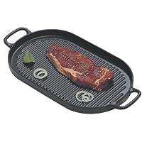 World Cuisine small black oval cast-iron grill [並行輸入品]