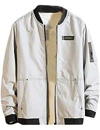gawaga 男性の立体ジャケットヒップポップ?ロングスリーブ?軽量のボンバージャケット