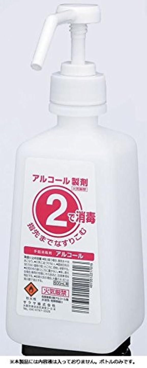 競う競う危険にさらされているサラヤ 2ボトル 噴射ポンプ付 手指消毒剤用 薬液詰替容器 500ml×12本