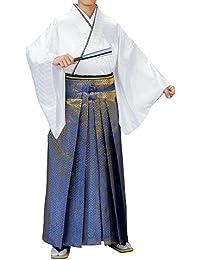 踊り衣裳 舞踊袴 福印 金?群青 メンズ レディース 洗える袴