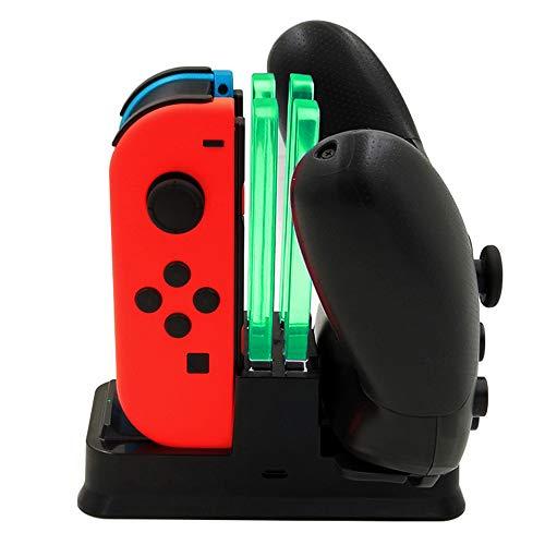 ジョイコン充電スタンド Massway Joy-Con & Pro 多機能充電ホルダー 同時急速充電 ニンテンドー スイッチ Joy-Con4台 Proコントローラー2台 Nintendo switch充電ホルダー充電指示LED付