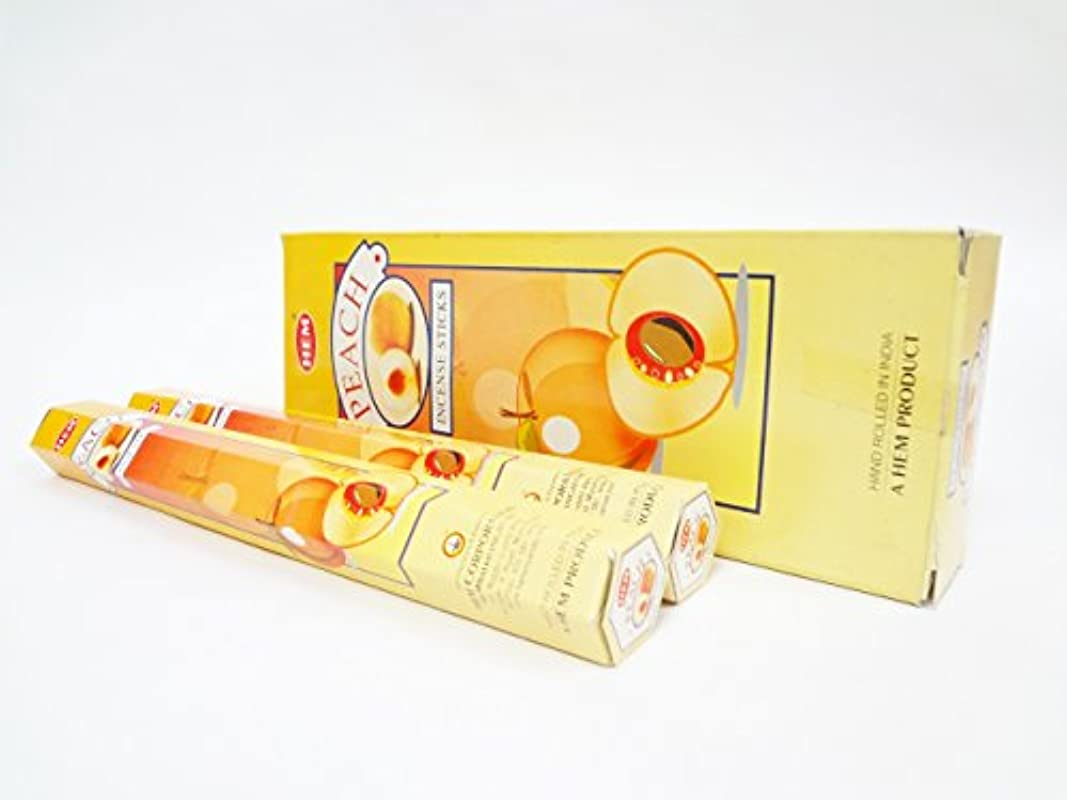 ロンドン前に基本的な【お香 アロマ】【ピーチ】 スティック香 6セット入り 【HEM 桃のフルーティーな甘い香り】