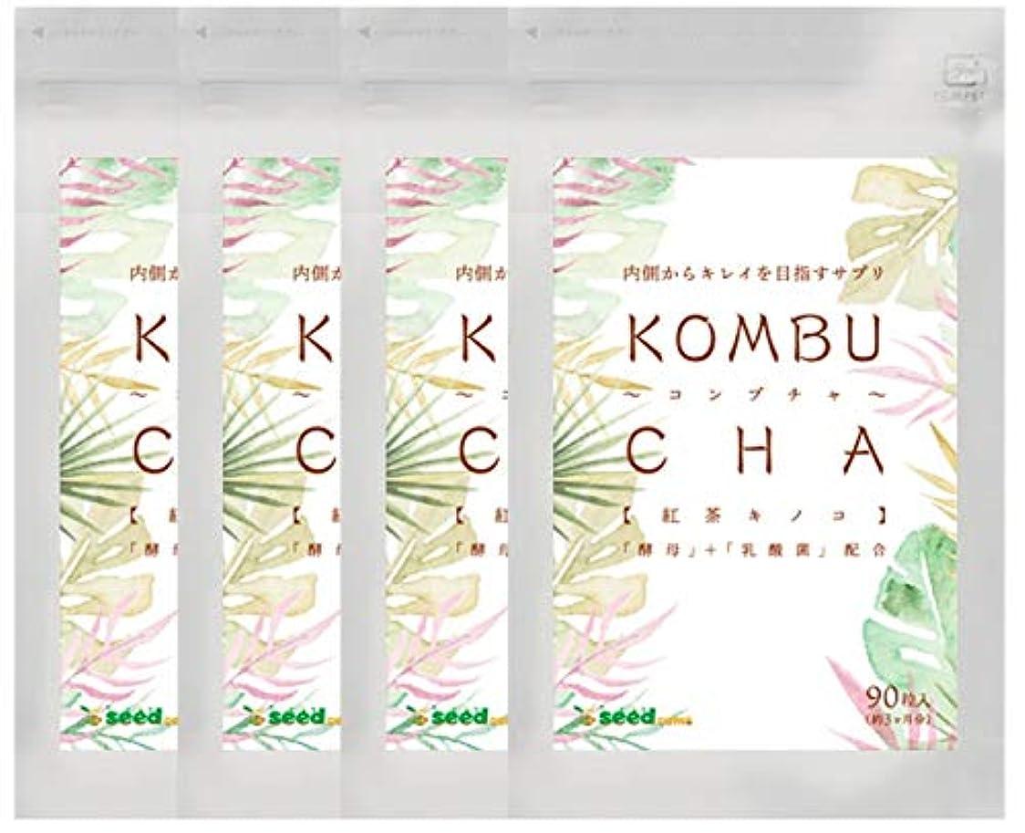 ストレッチ以下ドキドキ【 seedcoms シードコムス 公式 】コンブチャ (約12ケ月分/360粒) 紅茶キノコ 酵母と乳酸菌配合