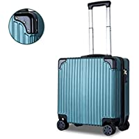 IRVING Mini Boarding Portable Light Trolley Case,18 Inches (Color : Green)