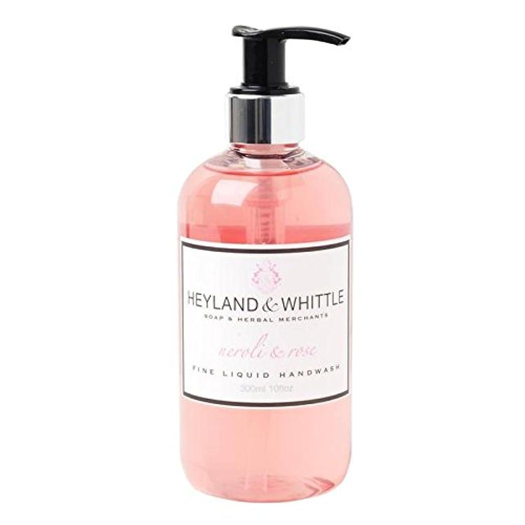 ロマンチック最初にキャンベラ&削るネロリ&手洗いの300ミリリットルをバラ x4 - Heyland & Whittle Neroli & Rose Handwash 300ml (Pack of 4) [並行輸入品]