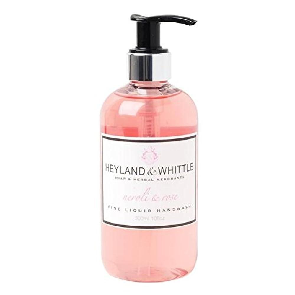 ラジウム先眠いです&削るネロリ&手洗いの300ミリリットルをバラ x4 - Heyland & Whittle Neroli & Rose Handwash 300ml (Pack of 4) [並行輸入品]