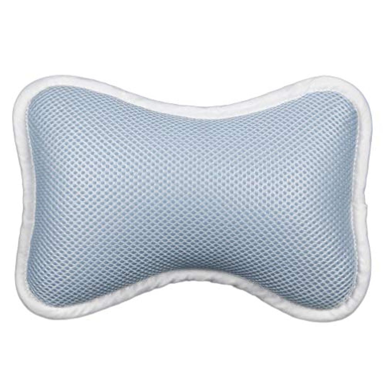 ただやる正しく要求するHeallily 浴槽枕1個ソフトバス枕首と肩のサポートクッション用吸盤付きサポート枕(青)