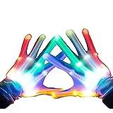 光る 手袋 ダンス パフォーマンス 子供用 K-Hiyori 軍手 マジック用品 ハロウィーン 手品 レインボー 明るい 7パターン パーティー 小物 コンサートライト ステージ ダンス イベント クリスマス