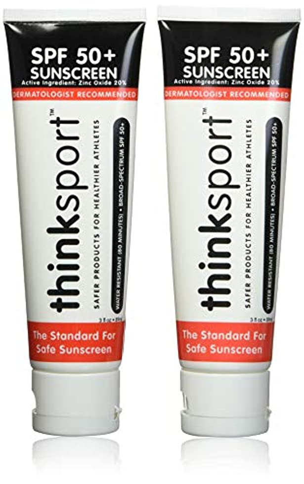 町切断する細分化する(90ml) - ThinkSport Sunscreen 50 SPF 89ml (3oz) - Safer Zinc Oxide Mineral Formulation - Ideal for all Sport and...