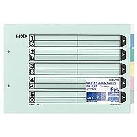 -まとめ-・コクヨ・カラー仕切カード-ファイル用・5山見出し-・A4ヨコ・2穴・5色+扉紙・シキ-65・1パック-10組-・-×5セット-