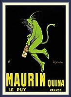 ポスター レオネット カピエッロ Maurin Quina le Puy 額装品 ウッドベーシックフレーム(ブルー)
