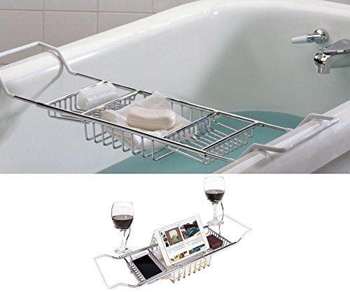 SANNO バスタブトレー バスラック バステーブル 伸縮式 ステンレス バスタブラック スマホ iPad 収納 浴槽 アメニック キッチン