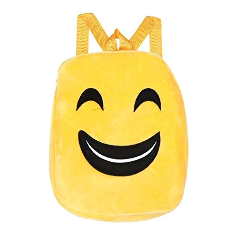繁雑何でも信者子供のかわいい絵文字のバックパック 幸運な太陽 ダブルショルダースクール バッグ リュックサック ハンドバッグ