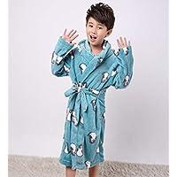 Nobrand Fashion Children's Bathrobe Autumn Winter Warm Flannel Nighgowns for Boys Cartoon Kids Robes Fleece Girls Hoode| Bathgowns