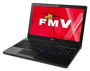 富士通 ノートパソコン FMV LIFEBOOK AHシリーズ WA1/W(Windows 10/15.6型ワイド/Celeron/4GBメモリ/約500GB HDD/Office Personal Premium/シャイニーブラック)FMVWW11B_Z515