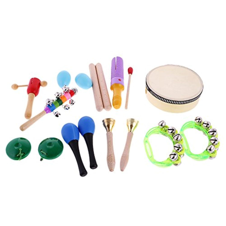 SONONIA  10個セット パーカッションベル ハンドベル おもちゃ