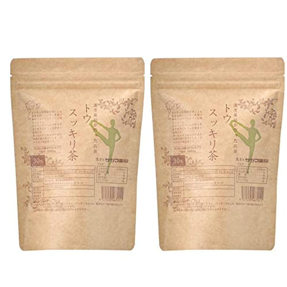 進む勇敢な気分が良いサツマ薬局 ダイエットティー トウスッキリ茶 60包(30包×2) ティーパック 高濃度コタラヒム茶 ほうじ茶
