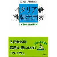 イタリア語動詞活用表