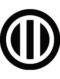 家紋シール 丸に竪二つ引き紋 布タイプ 直径40mm 6枚セット NS4-0680
