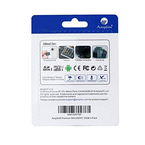 『32GB Micro SD Card x4 Pack Plus Adapter (Class 10 UHS-I MicroSDHC Extreme Pro Memory) 32 GB Ultra High Speed 90MB/s 600X UHS-1 Microsd SDHC. Amplim Cell Phone Tablet Flash (Quad 32G Performance TF G5) [並行輸入品]』の1枚目の画像